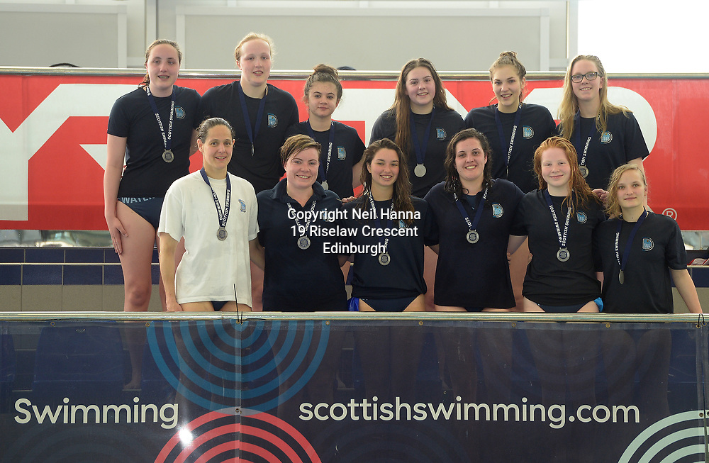 Water Polo Cup Finals Day<br /> <br /> Women's Graz Trophy<br /> <br /> Edinburgh Uni vs Dunfermline<br /> <br />  Neil Hanna Photography<br /> www.neilhannaphotography.co.uk<br /> 07702 246823