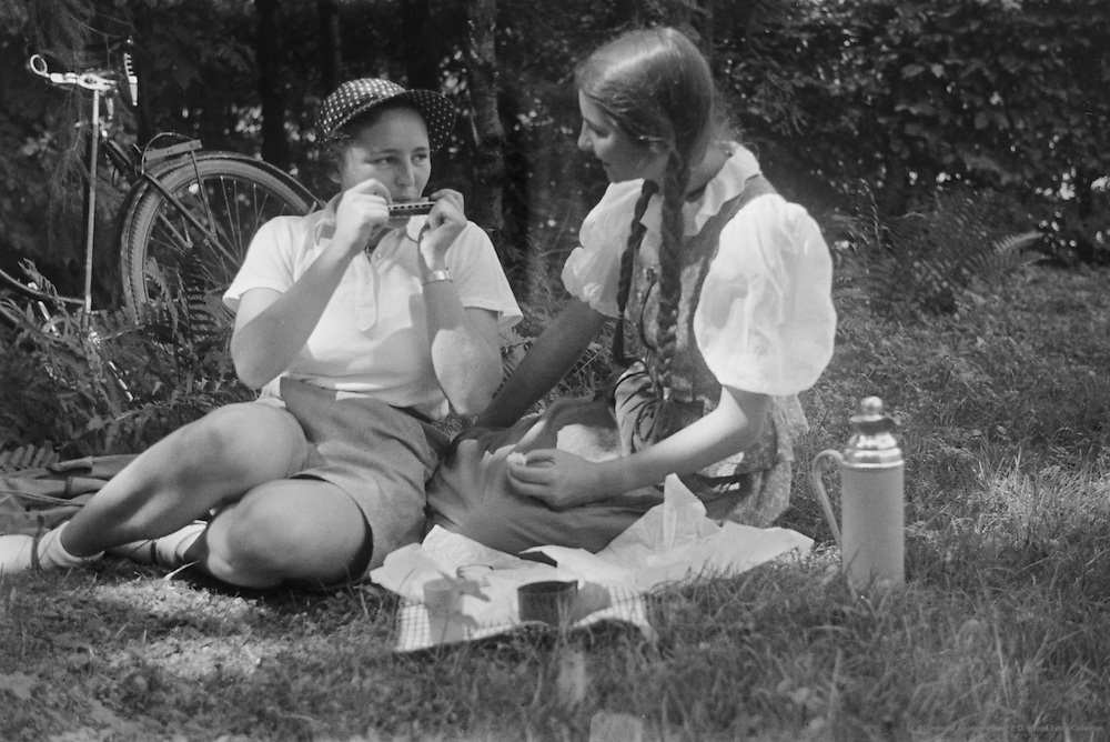Miss Lindinger and Miss Grell, Molln, Austria, 1937