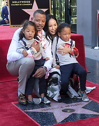 September 24, 2019, Los Angeles, California, U.S: Actor Terrence Howard and his wife Miranda Pak with their kids attend his star ceremony on the Hollywood Walk of Fame in the Category of Television, on Tuesday, Sept. 24, 2019, in Los Angeles (Credit Image: © Ringo Chiu/ZUMA Wire)