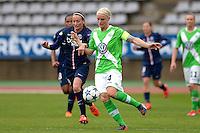 Nilla Fischer / Kosovare Asllani - 26.04.2015 - Paris Saint Germain / Wolfsbourg - 1/2Finale Champions League feminine<br />Photo : Andre Ferreira / Icon Sport