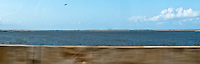 Mobile Bay, Alabama viewed from Interstate 10 panorama