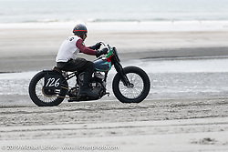 Fabrizio Iacono came all the way from Italy with his 45 inch Harley-Davidson Flathead racer to TROG (The Race Of Gentlemen). Wildwood, NJ. USA. Saturday June 9, 2018. Photography ©2018 Michael Lichter.