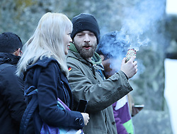 Hundreds of people arrived before dawn at Stonehenge in Wiltshire for the Winter Solstice<br /><br />22 December 2017.<br /><br />Please byline: Vantagenews.com<br /><br />UK clients should be aware children's faces may need pixelating.