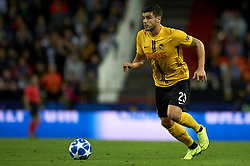 November 7, 2018 - Valencia, Spain - Benito of Young Boys controls the ball during the Group H match of the UEFA Champions League between Valencia and Young Boys at Mestalla Stadium, Valencia on November 07 of 2018. (Credit Image: © Jose Breton/NurPhoto via ZUMA Press)