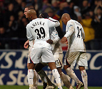 Photo: Paul Greenwood.<br />Bolton Wanderers v Portsmouth. The Barclays Premiership. 30/12/2006. Bolton Players celebrate the equaliser