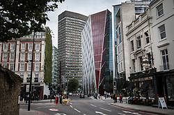 "© Licensed to London News Pictures. 06/09/2017. London, UK. The newly completed Nova Victoria building near to London's Victoria Station has won the 2017 Carbuncle Cup. The award, run by Building Design Magazine, has named the £380m office complex -  described as a ""bright red hideous mess"" - as the worst building in the United Kingdom. Photo credit: Peter Macdiarmid/LNP"