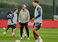 Football - 2021 / 2022 Champions League season - Group B - Liverpool versus AC Milan - Liverpool training - AXA Training Centre Kirkby - Tuesday 14th September 2021<br /> <br /> Liverpool manager Jurgen Klopp during today's open training session at the club's Axa Training Centre in Kirkby ahead of tomorrow's Champions League group match against Milan<br /> <br /> Credit: COLORSPORT