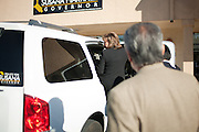 ALBUQUERQUE, NM - OCTOBER, 13: Republican gubernatorial candidate Susana Martinez climbs into a SUV outside her campaign headquarters on October 13, 2010 in Albuquerque New Mexico. (Photo by Steven St. John/For The Washington Post)