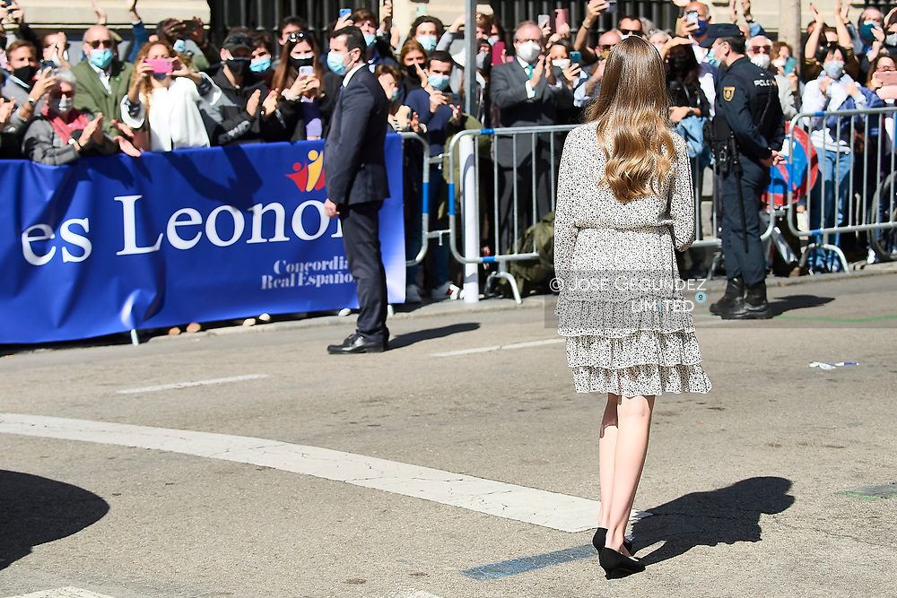 Crown Princess Leonor attends 30th anniversary of the Cervantes Institute at Cervantes Institute on March 24, 2021 in Madrid, Spain