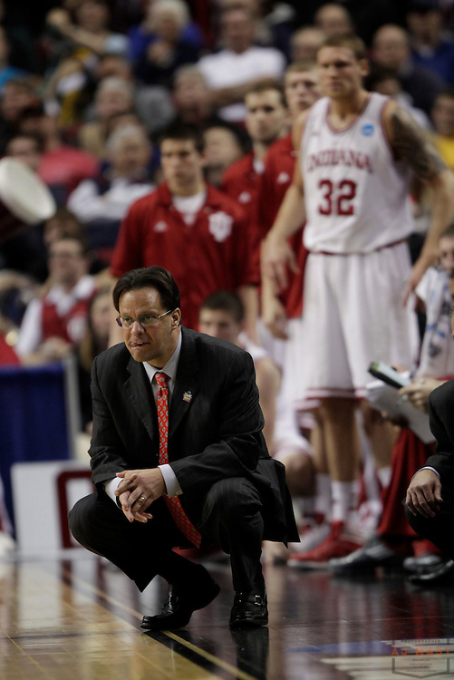 15 March 2012: Indiana Head Coach Tom Crean as the New Mexico State Aggies played the Indiana Hoosiers in the Second Round of the NCAA Division I Men's Basketball Championship at the Rose Garden in Portland, OR.