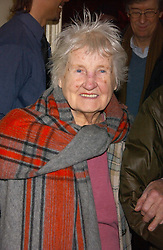 Vivienne Westwood's mother at the launch of 'Grand Classics:Films with Style' series in London hosted by Vivienne Westwood at The Electric Cinema, Portobello Road, London W11 on 20th March 2006.<br />