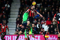 Steve Cook of Bournemouth clears a Southampton attack - Mandatory by-line: Jason Brown/JMP - Mobile 07966 386802 01/03/2016 - SPORT - FOOTBALL - Bournemouth, Vitality Stadium - AFC Bournemouth v Southampton - Barclays Premier League