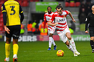 John Marquis of Doncaster Rovers (9) drives forward with the ball during the EFL Sky Bet League 1 match between Doncaster Rovers and Scunthorpe United at the Keepmoat Stadium, Doncaster, England on 15 December 2018.
