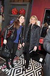 Left to right, LADY ROSE ALEXANDER and her mother COUNTESS ALEXANDER OF TUNIS at a party to celebrate the publication of Folly de Grandeur: Romance and Revival in an English Country House by Nicky Haslam held at Oka, 155-167 Fulham Road, London on 21st March 2013.