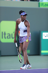 March 23, 2018 - Key Biscayne, Florida, United States Of America - KEY BISCAYNE, FL - MARCH 23: Venus Williams on day 5 of the Miami Open at Crandon Park Tennis Center on March 23, 2018 in Key Biscayne, Florida. ...People:  Venus Williams. (Credit Image: © SMG via ZUMA Wire)