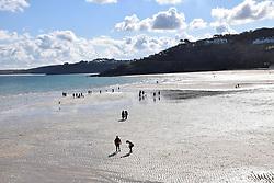 Porthminster beach, St Ives, Cornwall UK Oct 2020
