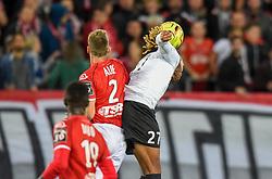 September 21, 2018 - Valenciennes, France - Julio Donisa ( Red Star FC ) - ALOE Baptiste  (Credit Image: © Panoramic via ZUMA Press)