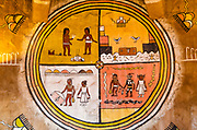 Navajo murals at Desert View Watchtower, Grand Canyon National Park, Arizona USA