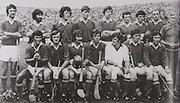Cork-All-Ireland Hurling Champions 1976. Back Row: J Barry Murphy, M Malone, J Crowley, P Barry, M O'Doherty, P Moylan, B Murphy, D Coughlan, Fr Troy. Front Row: C McCarthy, B Cummins, G McCarthy, R Cummins (capt), M Coleman, P McDonnell, S O'Leary.