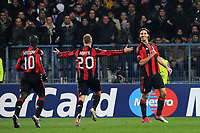 FOOTBALL - CHAMPIONS LEAGUE 2010/2011 - GROUP STAGE - GROUP G - AJ AUXERRE v MILAN AC - 23/11/2010 - JOY ZLATAN IBRAHIMOVIC (MILAN)- AFTER HIS GOAL - PHOTO FRANCK FAUGERE / DPPI