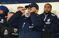 Tony Pulis, the manager of West Bromwich Albion adjusts his glasses .Carabao Cup 3rd round match, West Bromwich Albion v Manchester City at the Hawthorns stadium in West Bromwich, Midlands on Wednesday 20th September 2017. pic by Bradley Collyer, Andrew Orchard sports photography.