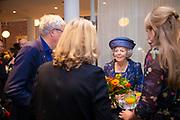 """Prinses Beatrix der Nederlanden woont  het symposium bij ter gelegenheid van het 50-jarig jubileum van stichting Biowetenschappen en Maatschappij. De bijeenkomst heeft het thema 'Wetenschap: veel meer dan een mening' en vindt plaats in Rijksmuseum Boerhaave in Leiden.<br /> <br /> Princess Beatrix of the Netherlands attends the symposium on the occasion of the 50th anniversary of the Biosciences and Society foundation. The meeting has the theme """"Science: much more than an opinion"""" and takes place in Rijksmuseum Boerhaave in Leiden."""