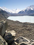 Views of the Tasman Glacier and Blue Lake, Aoraki/Mt. Cook National Park, New Zealand