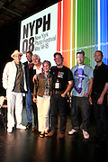 l to r;  Joseph Rodriguez, Jamel Shabazz, Henry Benson, Leora Khan, Daniel Powers, Salva Mogutin and Brian Finke,-Photographers of Powerhouse Books at The New York Photo Festival (NYPH) in the Dumbo section of, Brooklyn on May 15, 2008 ..Photography, one of the most important visual media of our lives, has been surprisingly uncelebrated, particularly in the United States. New York City, home to the most influential commercial and fine art photography community, has lacked?until now?a large-scale event dedicated to photography.. .powerHouse Books and VII Photo Agency have joined forces to launch the new, annual New York Photo Festival, the first international-level festival of photography to be based in the U.S.