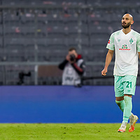 21.11.2020, Allianz Arena, Muenchen, GER,  FC Bayern Muenchen SV Werder Bremen <br /> <br /> <br />  im Bild Oemer Toprak (SV Werder Bremen #21) <br /> <br /> <br /> <br /> Foto © nordphoto / Straubmeier / Pool/ <br /> <br /> DFL regulations prohibit any use of photographs as image sequences and / or quasi-video.