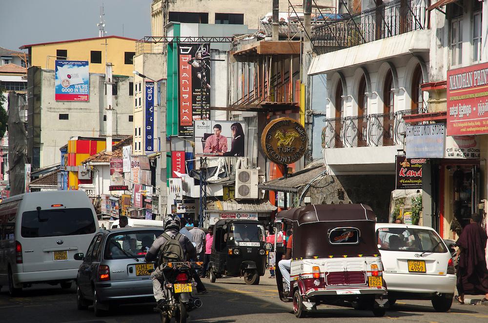 Morning traffic in Kandy, Sri Lanka