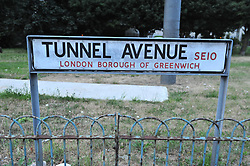 © Licensed to London News Pictures. 23/06/2017. <br /> GREENWICH, UK.<br /> A murder investigation has been launched after a women's body was found in the back garden of a property in Tunnel Avenue, Greenwich.   The woman believed to be in her 50s appears to have been stabbed.<br /> Photo credit: Grant Falvey/LNP