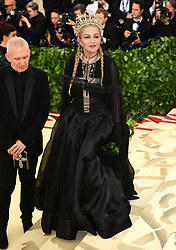 File photo dated 07/05/18 of Madonna attending the Metropolitan Museum of Art Costume Institute Benefit Gala 2018 in New York, USA. The pop superstar will celebrate her 60th birthday on Thursday, following a long career of reinvention and controversy.