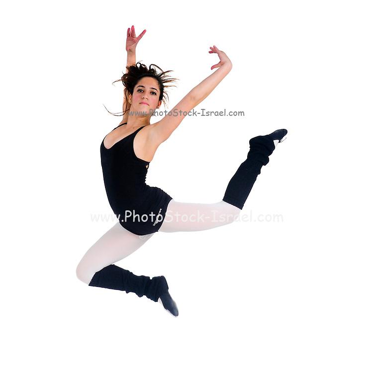 Female teen Ballet Dancer On white Background