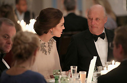 The Duchess of Cambridge attends Dinner at the Royal Palace, Oslo, Norway at the end of the third day of her tour of Scandinavia.