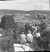 Filming at Sally Gap, Co. Wicklow - Robert Mitchum and Richard Harris. 'The Night Fighters'.12/07/1959