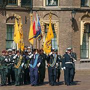 NLD/Den Haag/20180831 - Koninklijke Willems orde voor vlieger Roy de Ruiter, aankomst diverse vralggen van de militaire onderdelen