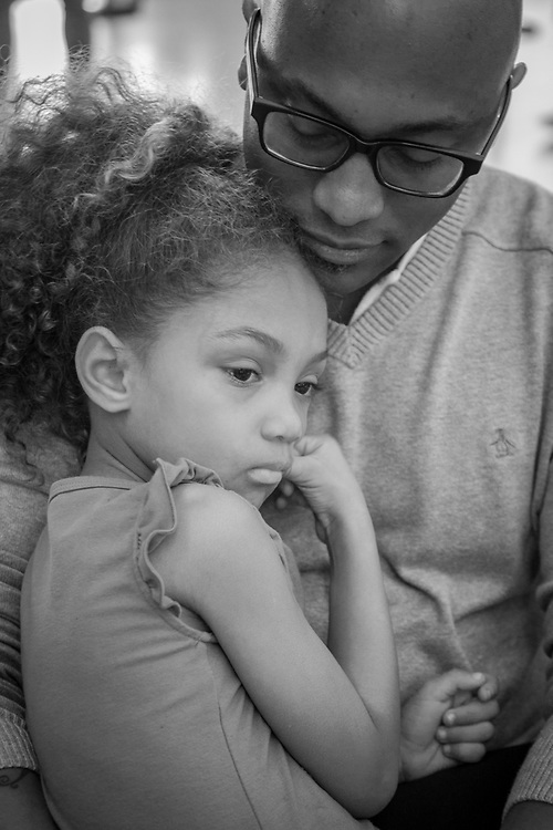 Ayrrion Boxton with his daughter, Aurora, at LAX, Los Angeles, CA