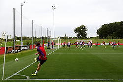England's Aaron Cresswell takes a corner - Mandatory by-line: Matt McNulty/JMP - 29/08/2017 - FOOTBALL - St George's Park National Football Centre - Burton-upon-Trent, England - England Training and Press Conference