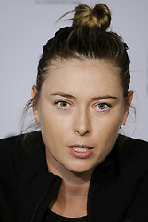 May 6, 2018 - Madrid, Spain - Maria Sharapova press conference during day two of the Mutua Madrid Open tennis tournament at the Caja Magica on May 6, 2018 in Madrid, Spain. (Credit Image: © Oscar Gonzalez/NurPhoto via ZUMA Press)