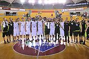 DESCRIZIONE : Roma Serie A2 2015-16 Acea Virtus Roma Benacquista Assicurazioni Latina<br /> GIOCATORE : Acea Virtus Roma Benacquista Latina<br /> CATEGORIA : panoramica team post game post game<br /> SQUADRA : Acea Virtus Roma<br /> EVENTO : Campionato Serie A2 2015-2016<br /> GARA : Acea Virtus Roma Benacquista Assicurazioni Latina<br /> DATA : 27/09/2015<br /> SPORT : Pallacanestro <br /> AUTORE : Agenzia Ciamillo-Castoria/G.Masi<br /> Galleria : Serie A2 2015-2016<br /> Fotonotizia : Roma Serie A2 2015-16 Acea Virtus Roma Benacquista Assicurazioni Latina