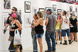 Display of Michael Lichter's limited edition prints at the 2016 ROT (Republic of Texas Rally). Austin, TX, USA. June 11, 2016.  Photography ©2016 Garrett Stanley.