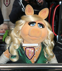 © Licensed to London News Pictures. 24/03/2014, UK. Miss Piggy, Muppets Most Wanted - VIP screening, Curzon Mayfair, London UK, 24 March 2014. Photo credit : Richard Goldschmidt/Piqtured/LNP