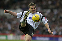 Photo: Pete Lorence.<br />Derby County v Hull City. Coca Cola Championship. 10/02/2007.<br />Steve Howard shoots on goal.