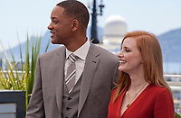actress Jessica Chastain and actor Will Smith at the Members of the Jury photocall at the 70th Cannes Film Festival Wednesday May 17th 2017, Cannes, France. Photo credit: Doreen Kennedy