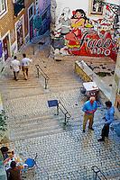 Portugal, Lisbonne, peintures murales dans le quartier de l'Alfama // Portugal, Lisbon, wall painting at Alfama area