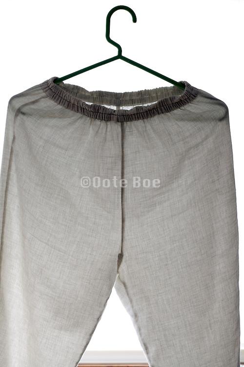 plain and simple designed white night pajama pants