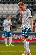 Vadim Konyukhov all smiles at the final whistle during the U17 European Championships match between Scotland and Russia at Simple Digital Arena, Paisley, Scotland on 23 March 2019.