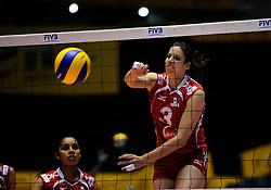 07-11-2010 VOLLEYBAL: WORLD CHAMPIONSHIP: PERU - KOREA: TOKYO<br /> Korea beat Peru with 3-1 / Paola Garcia<br /> ©2010-WWW.FOTOHOOGENDOORN.NL