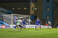 Football - 2020 / 2021 Sky Bet League One - Gillingham vs Accrington Stanley - Priestfield Stadium<br /> <br /> Joe Pritchard (Accrington Stanley) spots the pass through the Gillingham defence to the waiting Dion Charles (Accrington Stanley) to slot the ball home for the second goal <br /> <br /> <br /> COLORSPORT/DANIEL BEARHAM