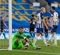 Brighton & Hove Albion's Matthew Ryan (left)  looks on in frustration after conceding a 2nd goal<br /> <br /> Photographer David Horton/CameraSport<br /> <br /> The Premier League - Brighton & Hove Albion v Manchester City - Saturday 11th July 2020 - The Amex Stadium - Brighton<br /> <br /> World Copyright © 2020 CameraSport. All rights reserved. 43 Linden Ave. Countesthorpe. Leicester. England. LE8 5PG - Tel: +44 (0) 116 277 4147 - admin@camerasport.com - www.camerasport.com